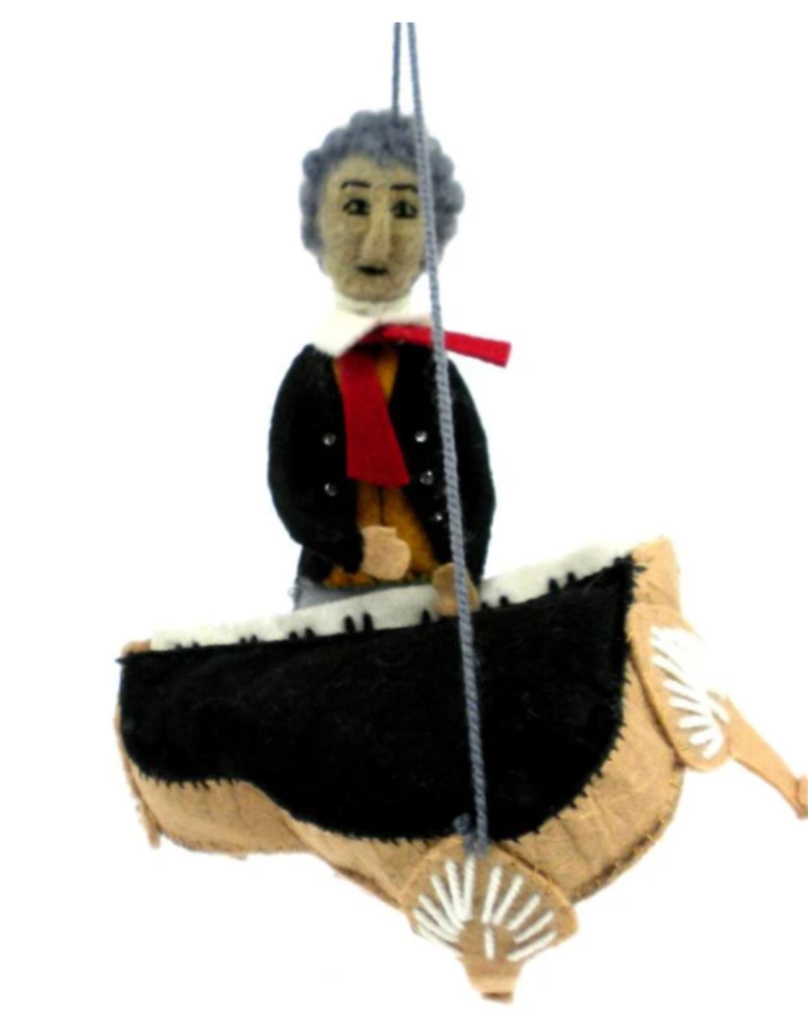 Kyrgyzstan, Beethoven Felt Ornament