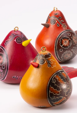 Flirty Bird Gourd Ornament