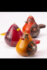 Flirty Bird Gourd Ornament,  Peru