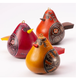 Flirty Bird Gourd Ornament,  Peru