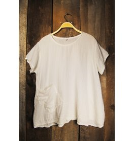 One Pocket, Short Sleeve, White, Thailand