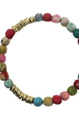 India, Kantha Paillette Bracelet