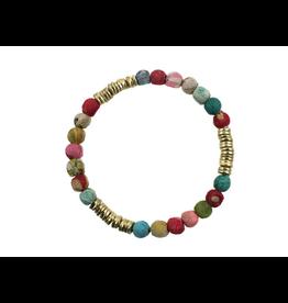 Kantha Paillette Bracelet, India