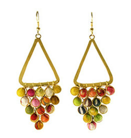 Kantha Reflective Chandeliers Earrings