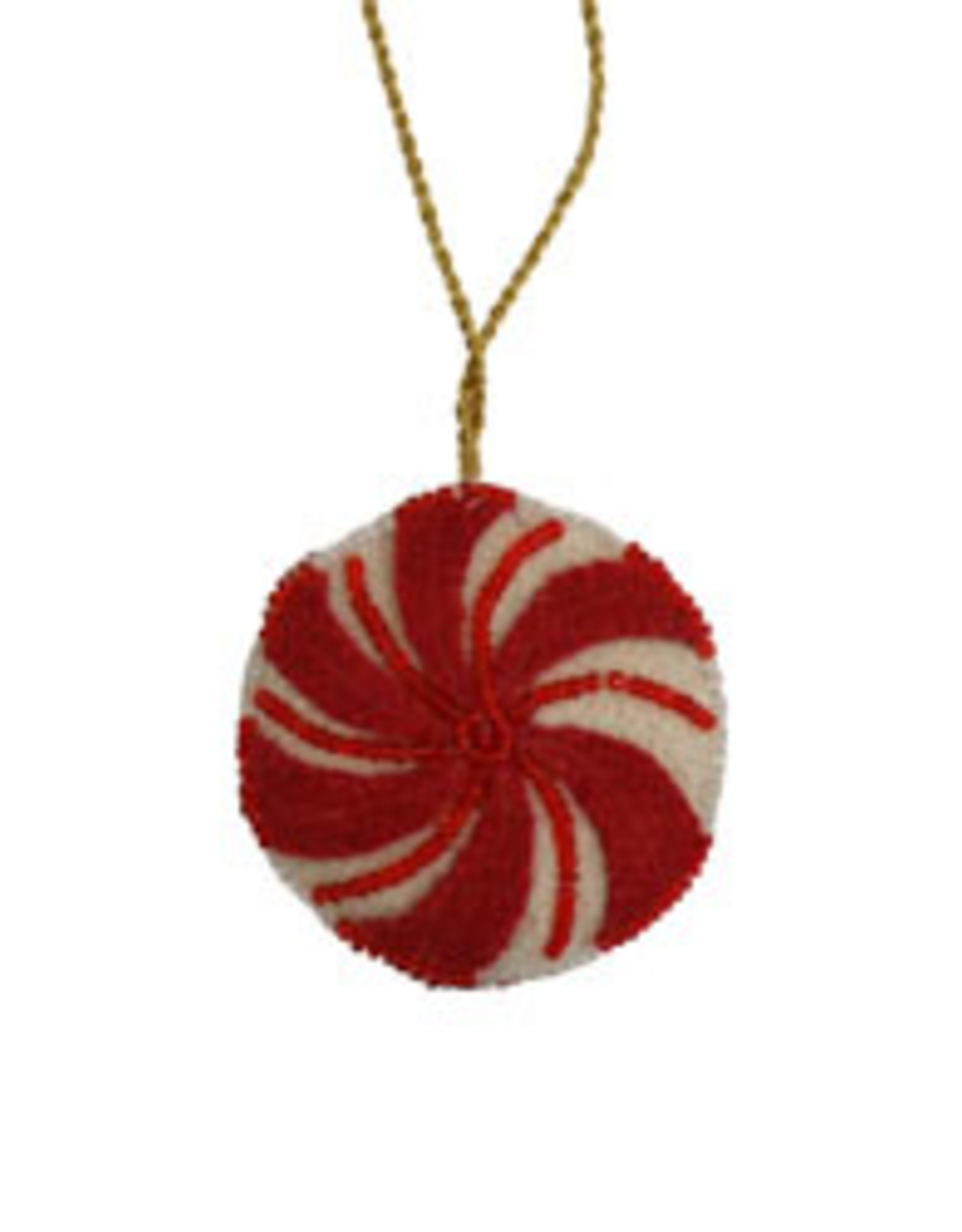 Felted Peppermint Drop Ornament, India