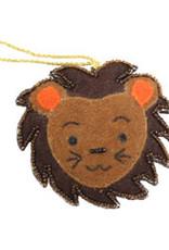 India, Felt Lion Ornament