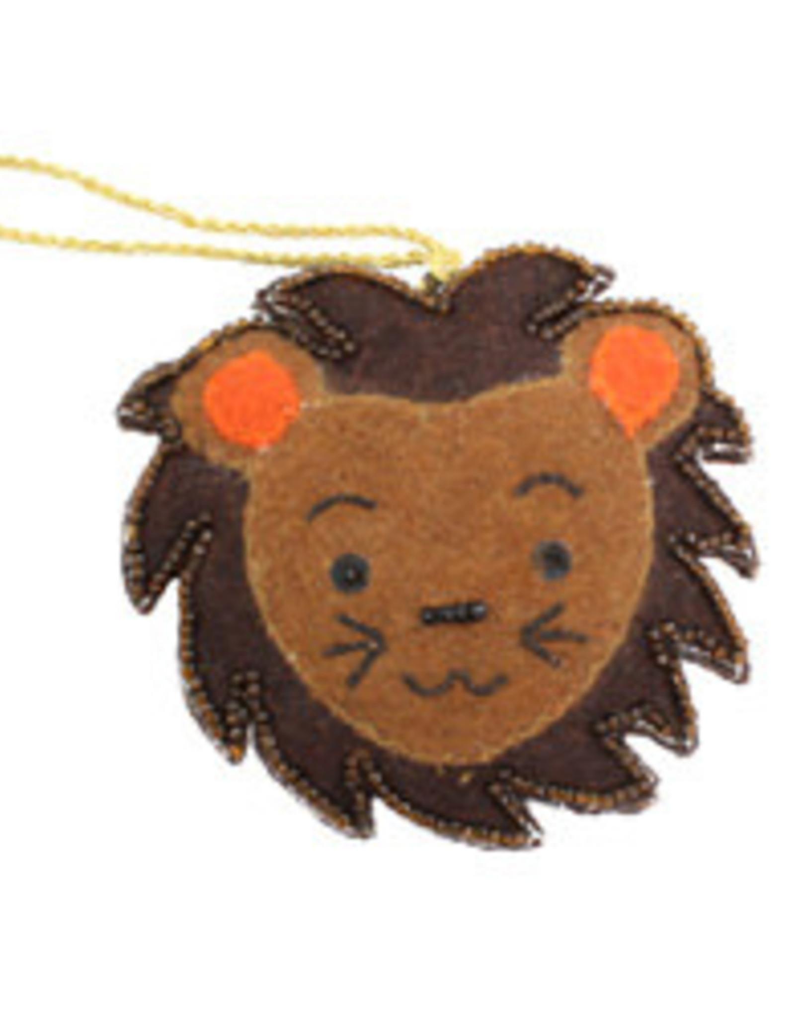 Felt Lion Ornament, India