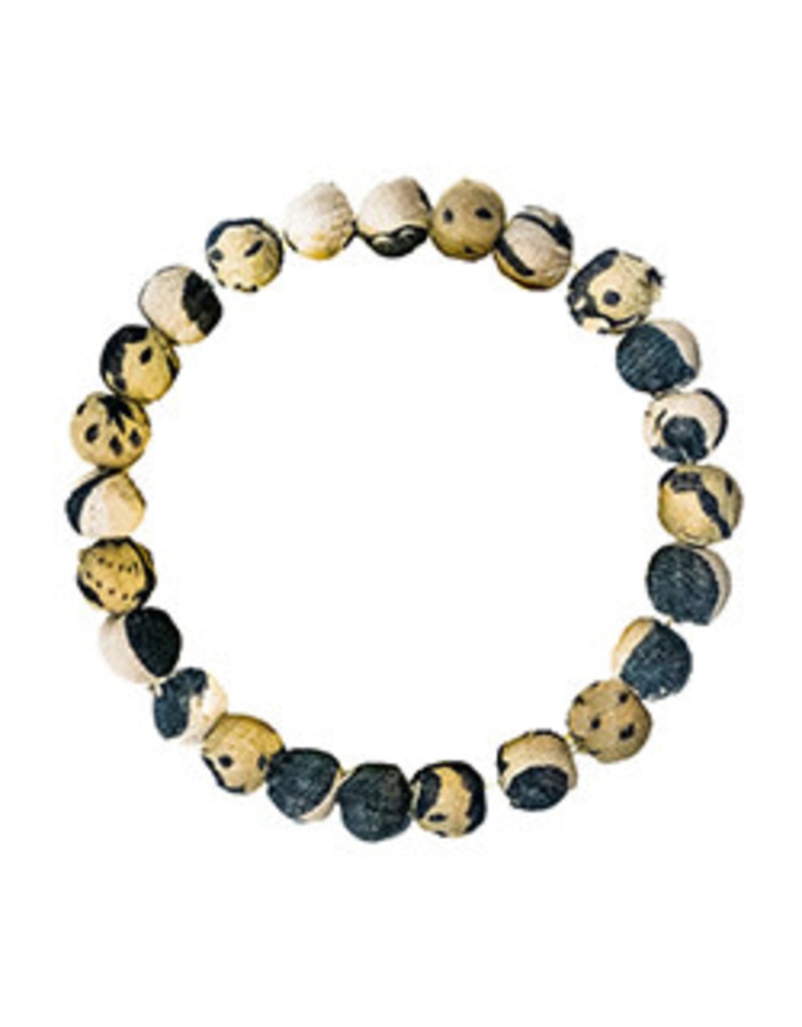 Kantha Chromatic Bracelet  Black & White