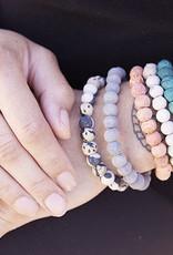 India, Kantha Chromatic Bracelets  Grey