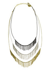 Delicate Fringed Metal Necklace, India