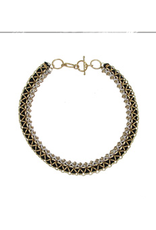 Woven Metallic Necklace/Bracelet