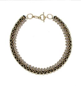 Woven Metallic Necklace/Bracelet