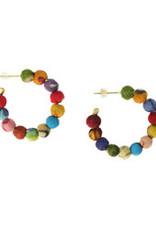 Kantha Mini Hoop Earrings