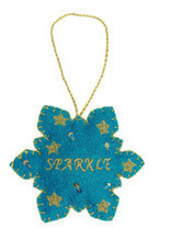 India, Sparkle Snowflake Ornament