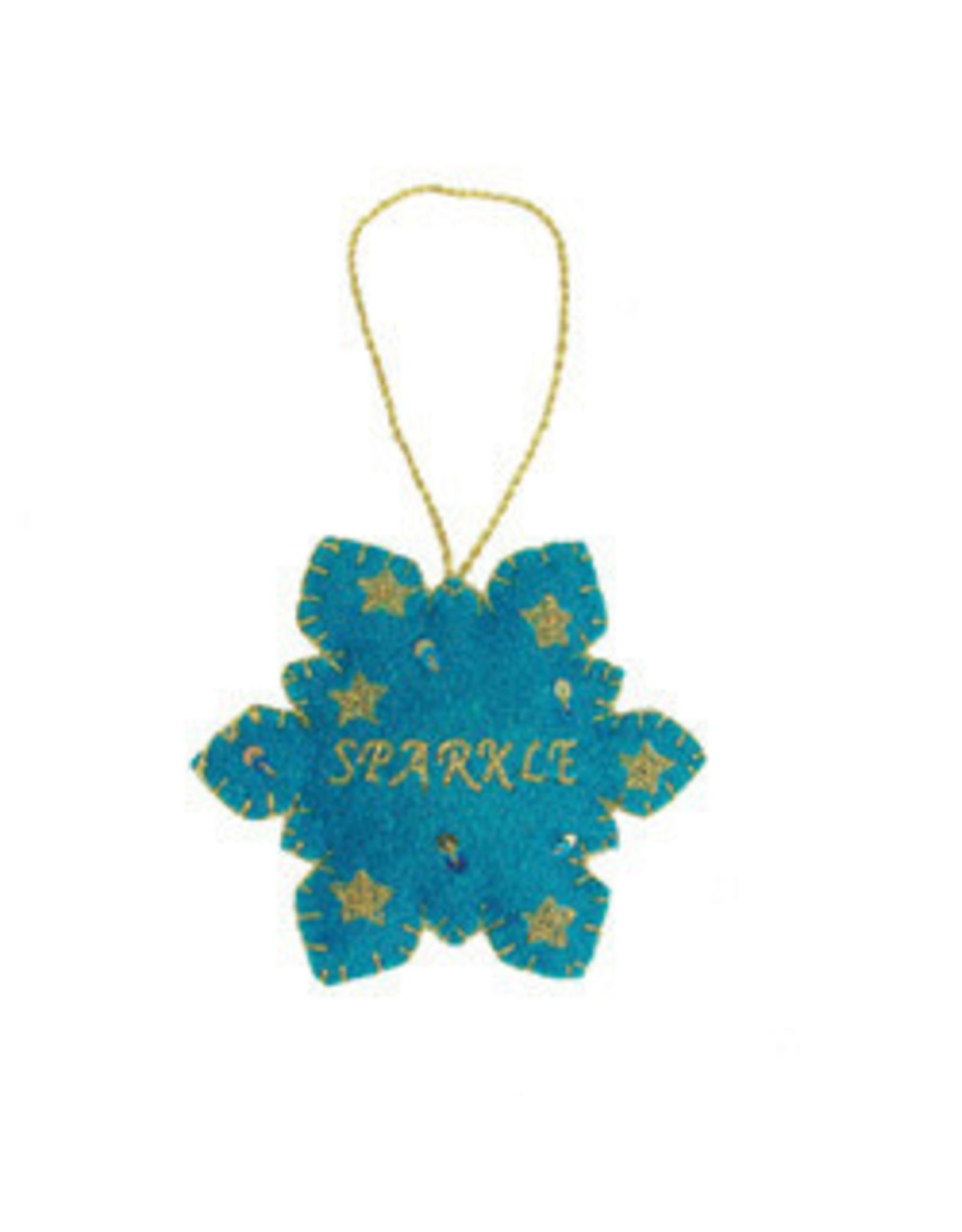 India, Sparkle Snowflake Ornament