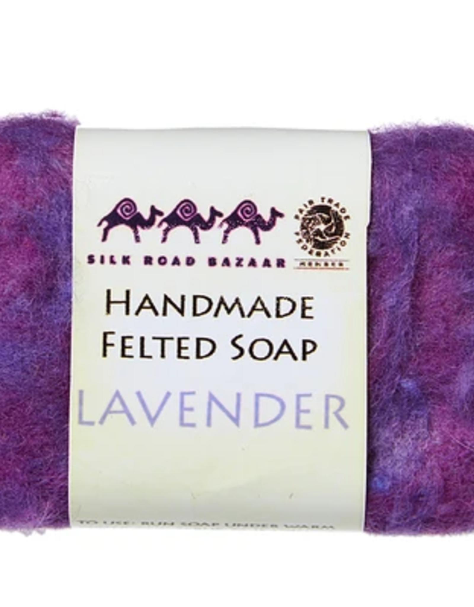 kyrgyzstan, Felted Soap Lavender