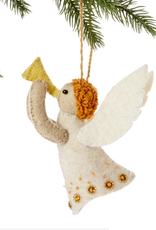 kyrgyzstan, Felted Angel Ornament