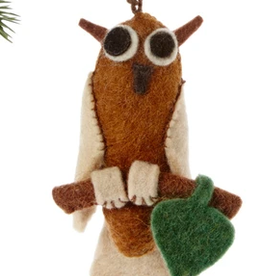 Felt, Owl Ornament