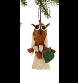 Felt Owl Ornament, Nepal