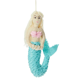 Felt Mystic Mermaid Ornament, Kyrgyzstan