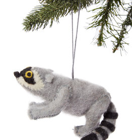 Kyrgyzstan, Felt Raccoon Ornament