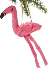 Kyrgyzstan, Felt Fickle Flamingo Ornament