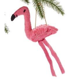 Felt Fickle Flamingo Ornament, Kyrgyzstan