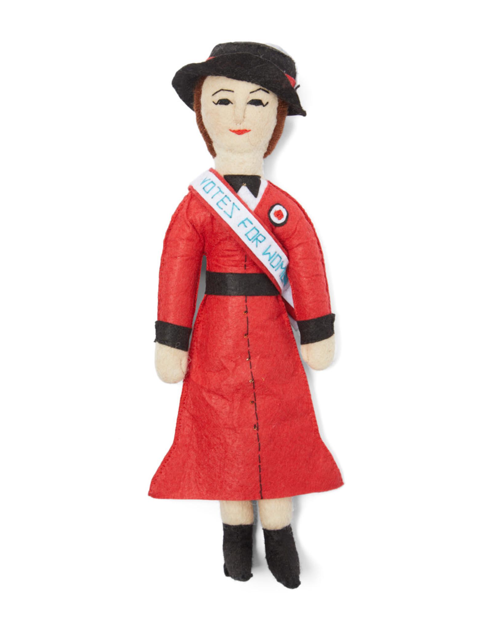 Kyrgyzstan, Historical Felt Dolls Suffragette