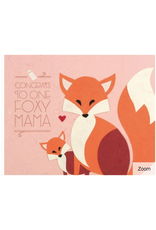 Congrats Foxy Mama Greeting Card