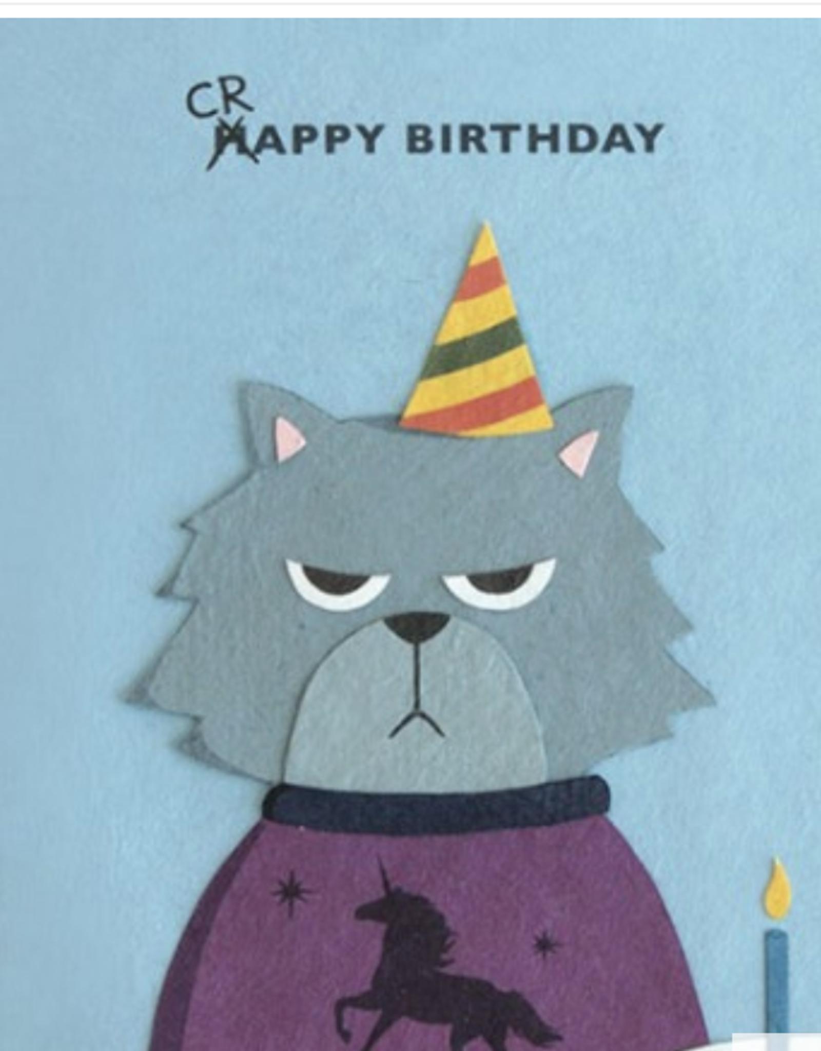 Grumpy Kitty Birthday Card