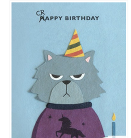 Grumpy Kitty Birthday Card