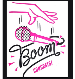 Mic Boom Congrats Card, Philippines