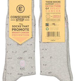 India, Assorted Conscious Socks Breast Cancer M/L