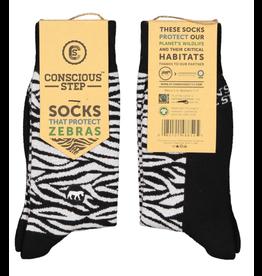 Socks that Protect Zebras S/M