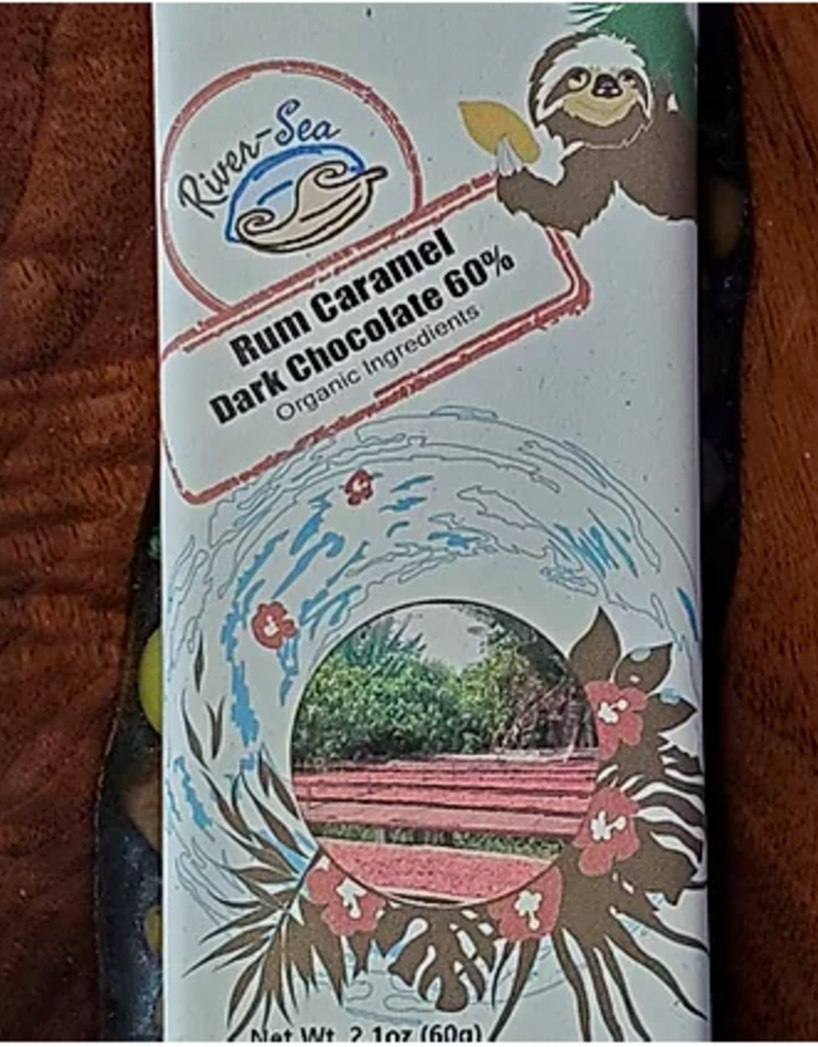 River-Sea Rum Caramel Dark Chocolate, 60%