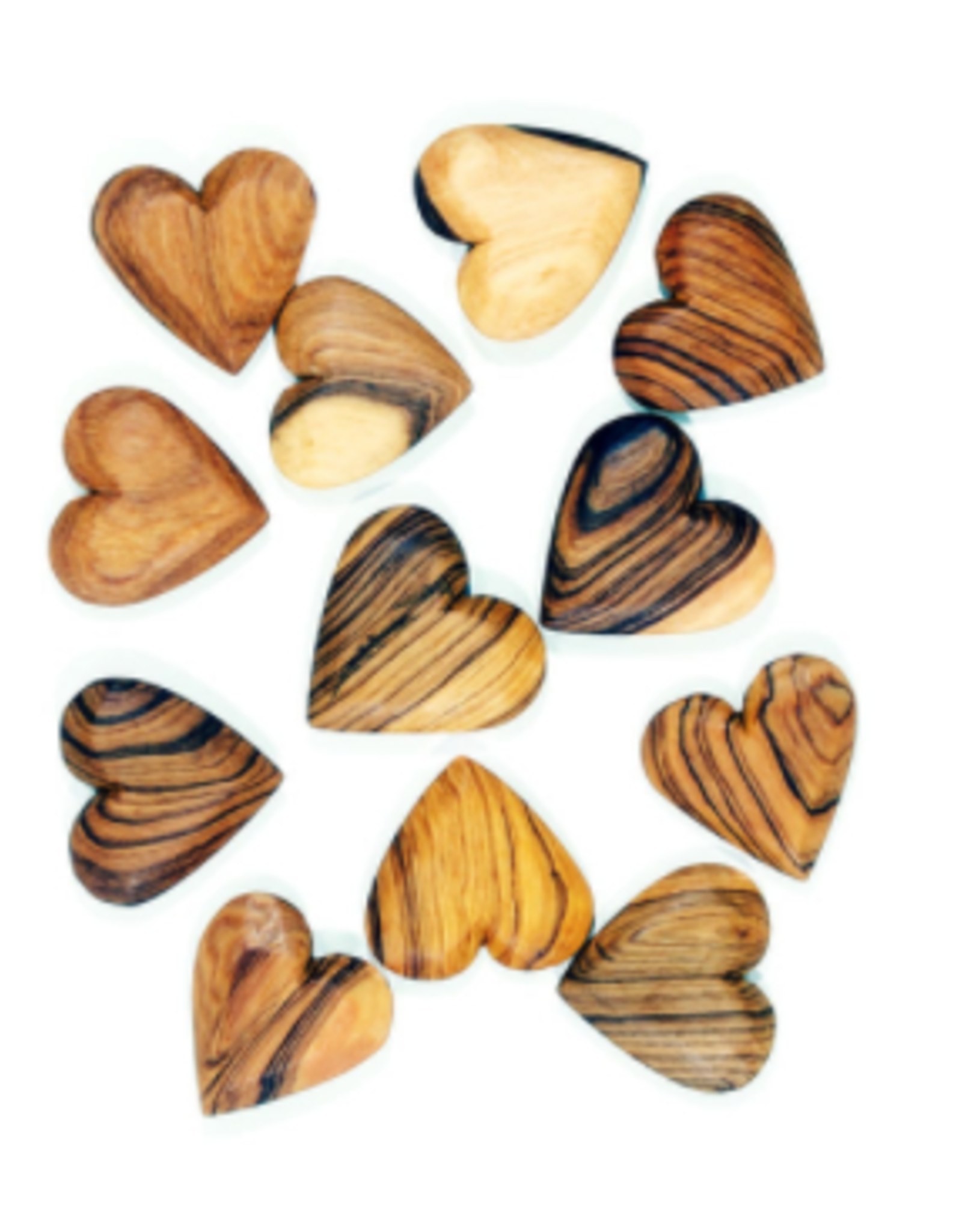 Mozambique, Flat Olive Wood Hearts