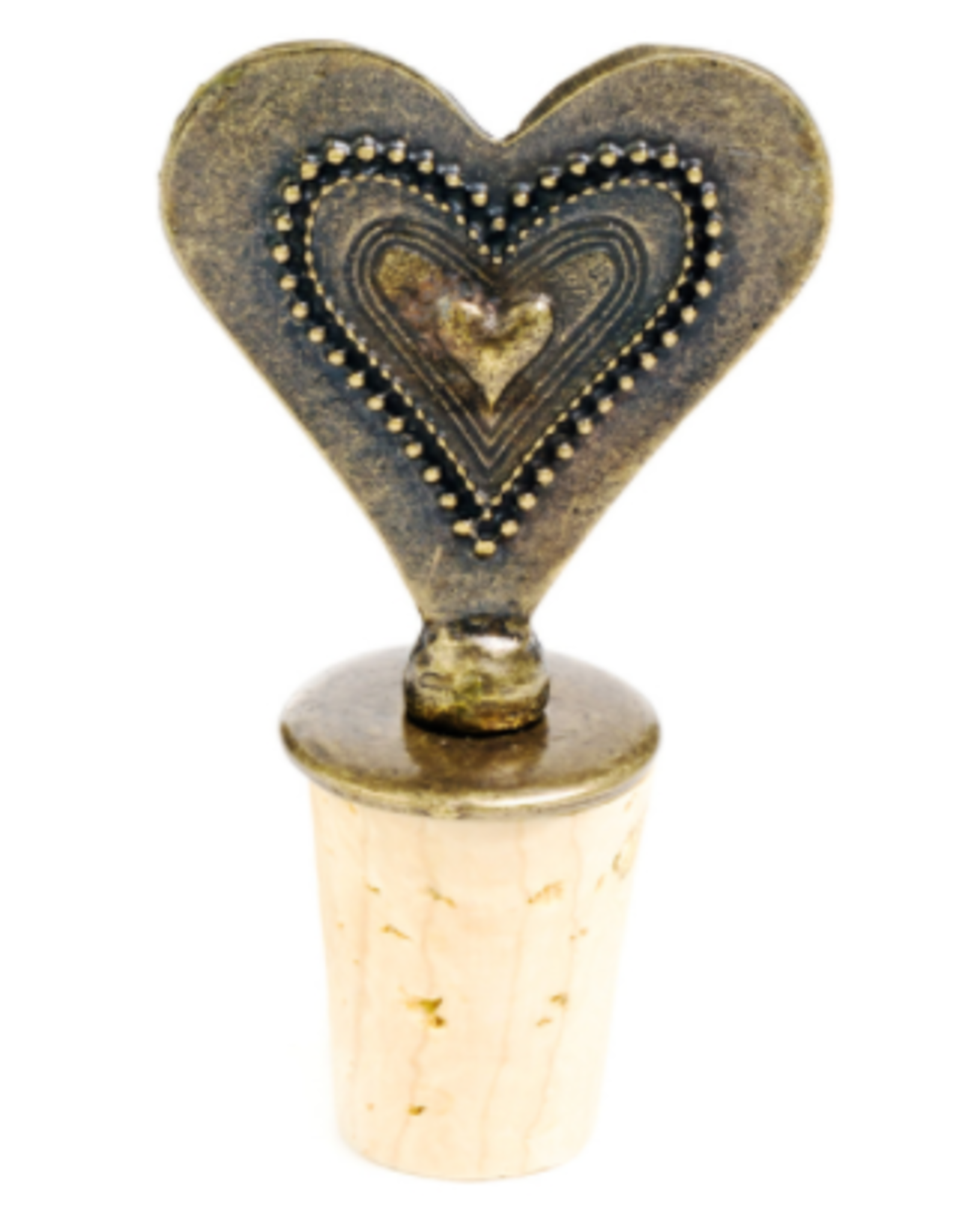 Bottle Stopper Large Decorated Heart