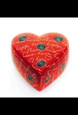 Love Soapstone Heart Box, Kenya