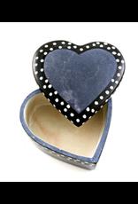 Gray Dot Line Heart Box, Kenya