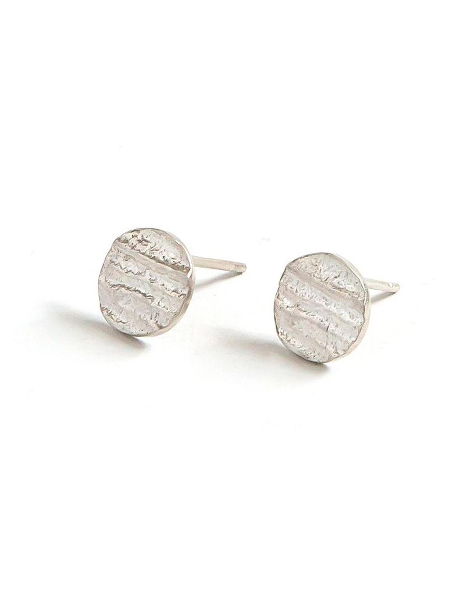 Sterling Silver Fossil Stud Earrings