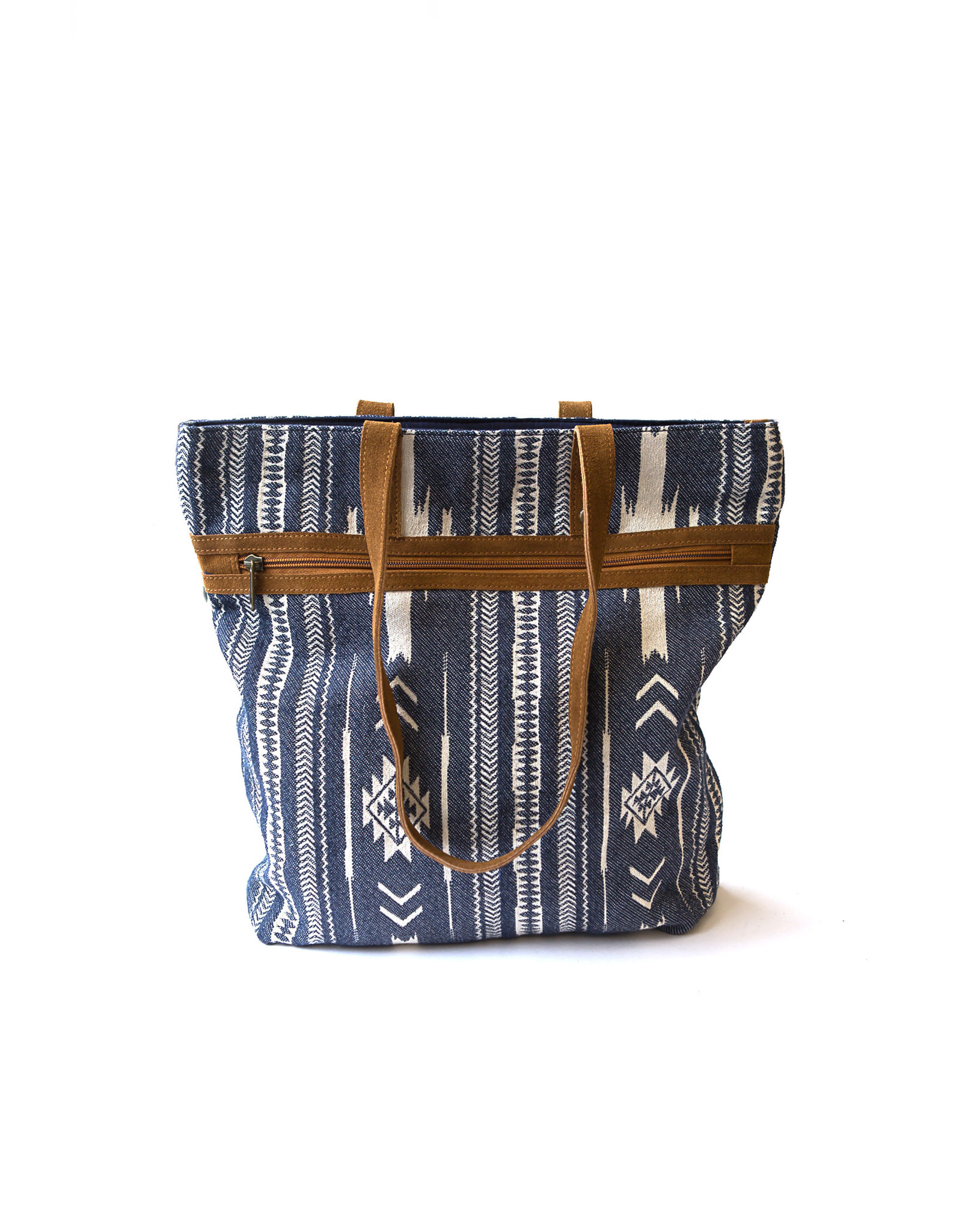 Rover Patterned Purse, Blue, India