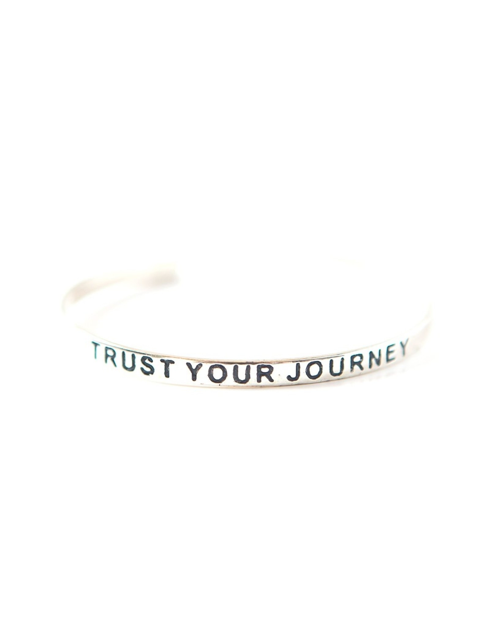 Trust Your Journey, Silver Plated  Cuff