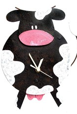 Silly Clocks Fat Cow, Black,  Colombia