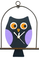 Silly Clocks Owl in a Cage, Black, Colombia