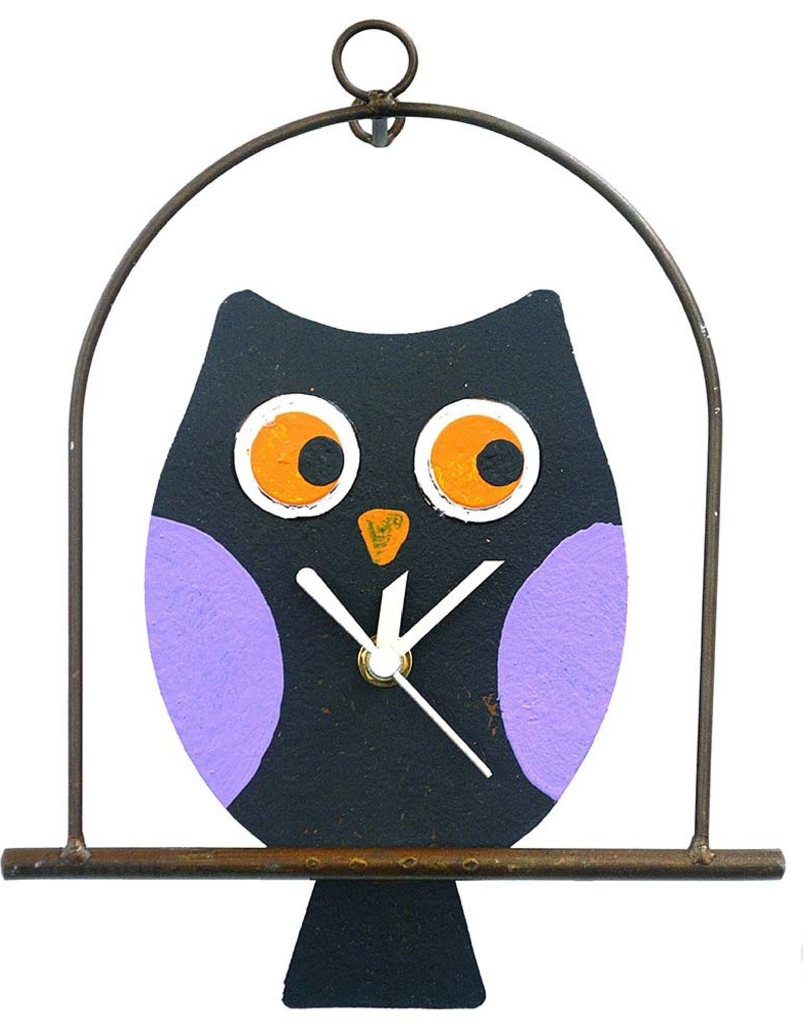 Colombia, Silly Clocks Black owl in a cage