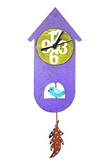Colombia, Silly Clocks Purple Thin Bird House
