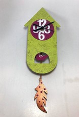 Colombia, Silly Clocks Green Thin Bird House