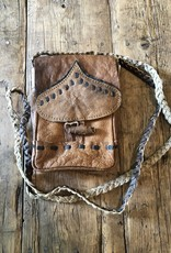 Nepal, Buffalo Leather Cell Phone Pouch