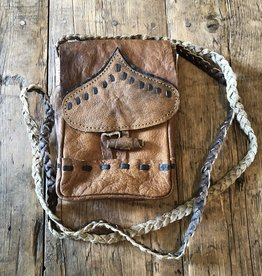 Buffalo Leather Cell Phone Pouch, Nepal