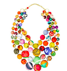 Kantha Orb Necklace